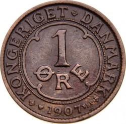 Coin > 1ore, 1907 - Denmark  - reverse
