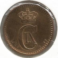 Moneda > 1öre, 1883 - Dinamarca  - obverse