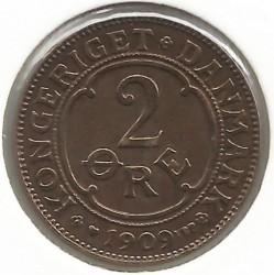 Coin > 2ore, 1909 - Denmark  - obverse