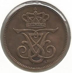 Coin > 2ore, 1909 - Denmark  - reverse