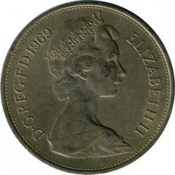 Coin > 10 new pence, 1969 - United Kingdom  - reverse