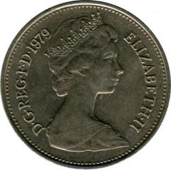 Монета > 5новипенса, 1968-1981 - Великобритания  - obverse