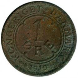 Coin > 1ore, 1910 - Denmark  - obverse