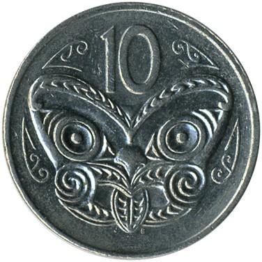 NEW  ZEALAND   10 Cents   1980   *