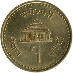 Minca > 1rupee, 2004 - Nepál  - reverse