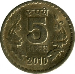 Mynt > 5rupier, 2009-2010 - India  - obverse