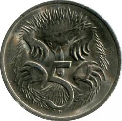 Moneta > 5centów, 1966-1984 - Australia  - obverse
