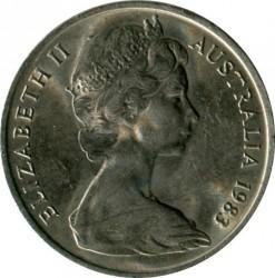 Moneda > 5centavos, 1966-1984 - Australia  - reverse