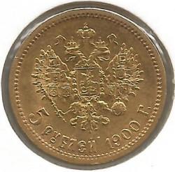Monedă > 5ruble, 1897-1911 - Rusia  - reverse