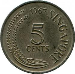 Монета > 5центів, 1967-1985 - Сінгапур  - obverse