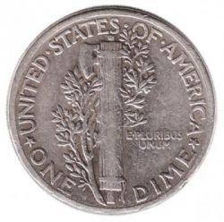 Moneda > 1dime, 1916-1945 - Estados Unidos  (Mercury Dime) - reverse