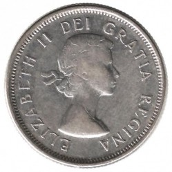 Moneta > 25centesimi, 1953-1964 - Canada  - obverse