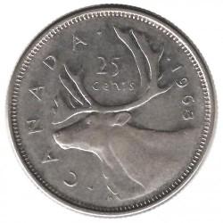 Moneta > 25centesimi, 1953-1964 - Canada  - reverse