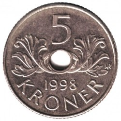 Монета > 5крон, 1998-2017 - Норвегия  - reverse