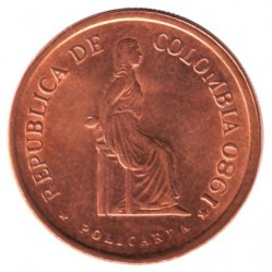 Coin > 5 pesos, 1980-1989 - Colombia  - reverse