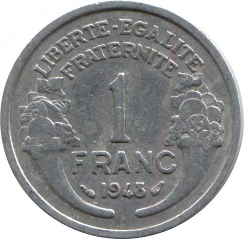 1957b France 1 franc World Foreign Coin