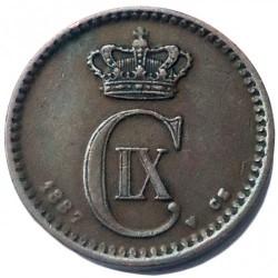 Moneda > 1öre, 1887 - Dinamarca  - obverse