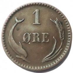 Moneda > 1öre, 1887 - Dinamarca  - reverse