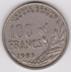 Coin > 100 francs, 1955 - France  - reverse
