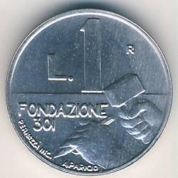 Moneda > 1lira, 1991 - San Marino  - obverse
