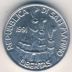 Moneda > 1lira, 1991 - San Marino  - reverse