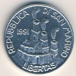 Монета > 5лір, 1991 - Сан-Марино  - obverse