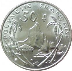 Монета > 50франков, 2007-2017 - Французская Полинезия  - reverse