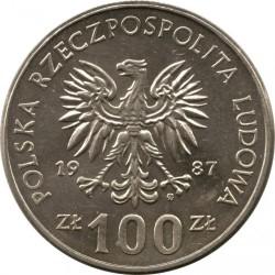 Coin > 100zlotych, 1987 - Poland  (King Kazimierz III) - obverse