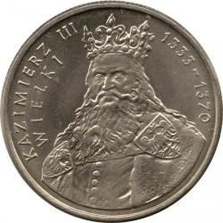 Coin > 100zlotych, 1987 - Poland  (King Kazimierz III) - reverse