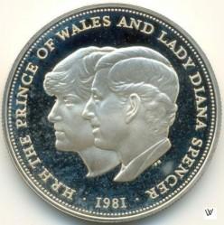 Moneta > 25pensów, 1981 - Wielka Brytania  (Ślub Księcia Karola i Księżnej Diany) - reverse