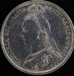 Moneta > 6pensów, 1887 - Wielka Brytania  (Herb na rewersie) - obverse