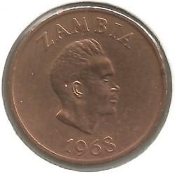 Moneta > 2ngvės, 1968-1978 - Zambija  - obverse