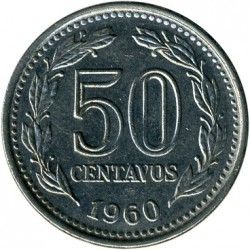 Moneta > 50centavos, 1957-1961 - Argentina  - obverse