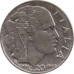 العملة > 20سنتيسيمي, 1939-1940 - إيطاليا  - reverse