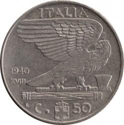 العملة > 50سنتيسيمي, 1939-1940 - إيطاليا  - reverse