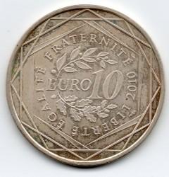 Moneda > 10euros, 2010 - Francia  (Regiones franceses - Alsacia) - reverse