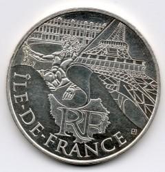 Moneda > 10euros, 2011 - Francia  (Regiones francesas - Île-de-France) - obverse