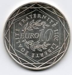 Moneda > 10euros, 2011 - Francia  (Regiones francesas - Île-de-France) - reverse