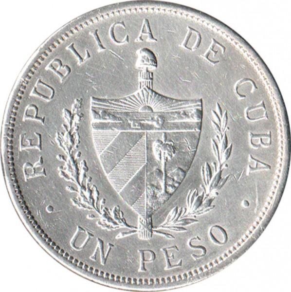 1 peso 1915-1934, Kuba - Cena monety - uCoin.net