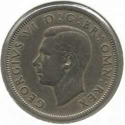 Coin > 2 shillings (florin), 1950 - United Kingdom  - obverse