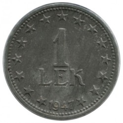 Moneda > 1lek, 1947-1957 - Albània  - reverse