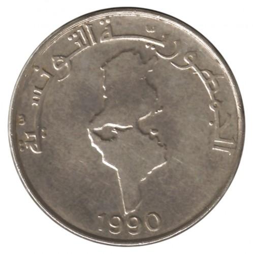 1 Dinar 1988 1990 Tunisie Valeur Pièce Ucoinnet