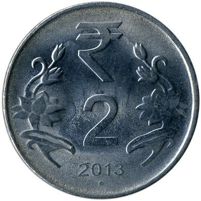 2 Rupien 2011 2019 Indien Münzen Wert Ucoinnet