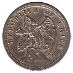 Coin > 1peso, 1933 - Chile  - obverse