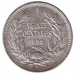 Moneta > 20centavos, 1899-1907 - Cile  - reverse