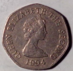 Moeda > 20pence, 1983-1997 - Jersey  - obverse