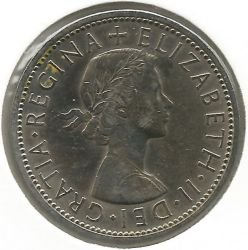 Coin > 2 shillings (florin), 1962 - United Kingdom  - reverse