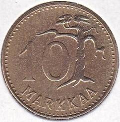 Münze > 10Mark, 1962 - Finnland  - reverse