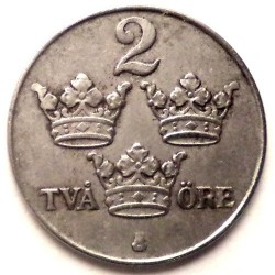 Pièce > 2ore, 1942-1950 - Suède  - reverse