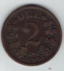 Moneda > 2öre, 1906-1907 - Noruega  - obverse
